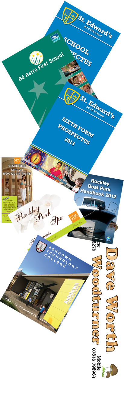 printed brochures, booklets, flyers, banners